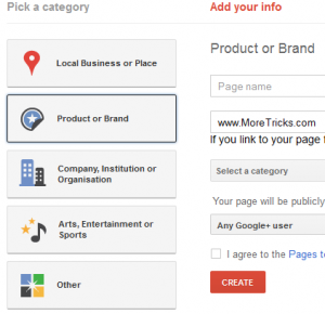 How to Create a Google Plus page