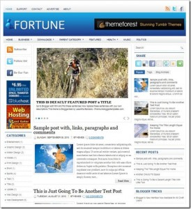 fortune Premium blogger theme