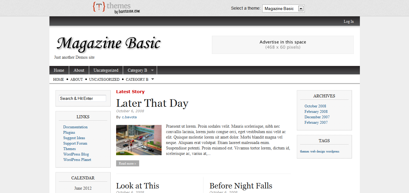 Magazine Basic Free WordPress theme download