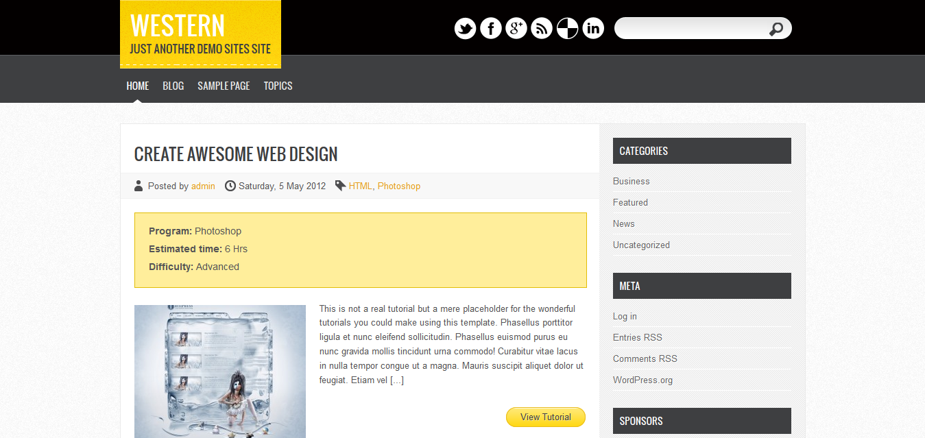 Western Free WordPress theme download