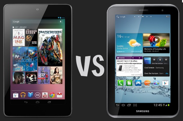 Nexus 7 vs Galaxy Tab