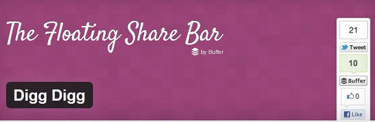 digg digg social share bar plugin for wordpress