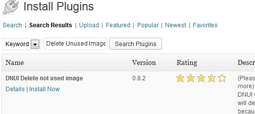 remove unused images from wordpress